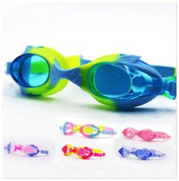 kids goggles sun protection Australia - New kids children silica gel Goggles safe protection Anti Fog Swimming Goggles Professional Waterproof Swim Sun Glasses with glasses box
