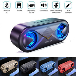 $enCountryForm.capitalKeyWord Australia - New Bluetooth Speaker Subwoofer Wireless Speakers 4D HIFI Stereo Portable Speakers TF Card USB AUX Port LED Light Speaker