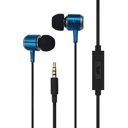 Blue suBwoofer online shopping - 3 mm In Ear Headphones Metal Subwoofer Earphones Headset Universal for iPhone Samsung S6 S7 S8 Smart Phone