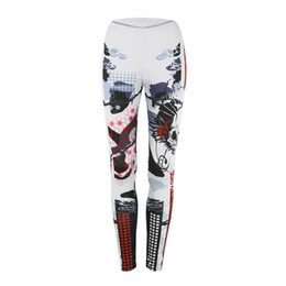 Chinese  Hot selling new sexy special skeleton printed sweatpants elastic girls ladies sport pants yoga running fitness manufacturers