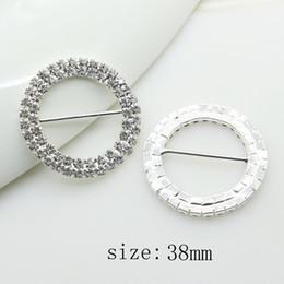 Round Wedding Invitation Cards Australia - New 20 pcs lot 38mm Rhinestone  Buckle Diamante Crystal Slider 859376157618