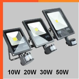 $enCountryForm.capitalKeyWord Australia - AC 85-265v 10W 20W 30W 50W 70W 100W Outdoor LED Flood Light Lamp With Motion Detective Sensor Floodlights PIR LED Floodlight