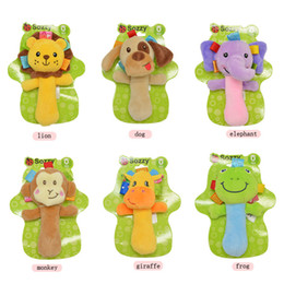 2020 New Design Baby Rattle Ring Bell Toy Soft Plush Elephant Dog Owl Lion Animal Teether Infant Early Educational Doll Free Shipping on Sale