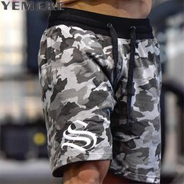 $enCountryForm.capitalKeyWord Australia - Yemeke Men's Shorts Summer Fashion Military Trunks French Terry Cotton Casual Hip Hop Male Short White Camouflage Y19042604
