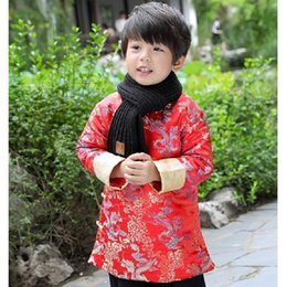 cartoon chinese dragons UK - Dragon Baby Boys Coat Tang Clothes Chinese Spring Festival Children Dress Party Costume Boy Outfit Quilted Outerwear Down Jacket