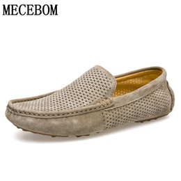 Discount holes leather shoes men - Men Loafers Summer Hole Out Breathable Genuine Leather Shoes Men Casual Driving Boat Shoes Slip-on Flats Moccasins 8033m