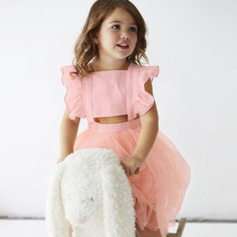 Beautiful Tutu For Girls Australia - Enkelibb Princess Girls Tutu Dresses Summer Sleeveless Dress For Toddler Girls Fashion Black pink Girls Beautiful Ball Gown J190619