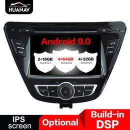 radio antenna auto UK - DSP Android 9.0 4+64GB Car radio Player GPS navigation for Hyundai Elantra 2014 2015 2013 auto stereo autoradio multimedia