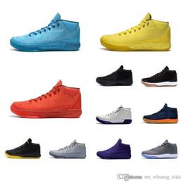 White 3d Rose Fabric Australia - Cheap Mens Kobe AD Mid 12 elite basketball shoes Black Mamba Gold Rainbow PK80 3D Rise Shine blue KB XII sneakers boots tennis with box