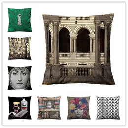 Discount best key case - FORNASETTI MALACHITE KEY Throw Pillow Case Decorative Throw Pillowcase Cushion Throw Cover Cases Best Gift Y200103