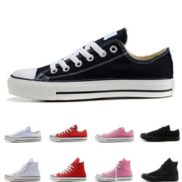 $enCountryForm.capitalKeyWord NZ - 2019 NEW Unisex High-Top Men Women Canvas Casual Shoes black red pink white beige navy blue designer sneaker shoes size 36-44