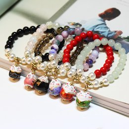 garnet strings 2019 - New European Fashion Jewelry Garnet Crystal Lucky Cat String bracelet Crystal from Fit Mona Lisa for Women Party
