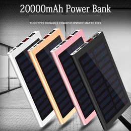$enCountryForm.capitalKeyWord Australia - Solar 20000mah Power Bank External Battery 2 USB LED Powerbank Portable Mobile phone Solar Charger for Xiaomi mi iphone XS 8plus