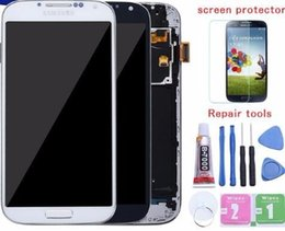 Touch Screen For Galaxy S4 Canada - 5.0'' LCD for Galaxy S4 LCD Display with Frame GT-i9505 i9500 i9505 i9506 i9515 i337 Touch Screen Digitizer