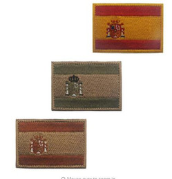 $enCountryForm.capitalKeyWord Australia - Spain Flag Embroidery Patch Backpack Armband Patch Military Tactical Bandage Fabric Sticker Embroidery Applique Apparel