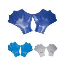 Paddle Sports Australia - Outdoor sports Swimming gloves Full finger Silicone Diving Webbed Gloves Swim Trainer Hand Paddles flippers wholesal