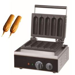 $enCountryForm.capitalKeyWord Australia - Electric Waffle Sausage Machine Commercial Crispy French Hot Dog Lolly Stick Frying Pan Hotdog Corn Baking Grill 110V 220V