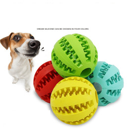 $enCountryForm.capitalKeyWord Australia - Pet Dog Toy Rubber Ball Toy diameter 5cm Funning ABS Silicone Pet Toys Ball Chew Tooth Cleaning Balls Home Garden TC190626