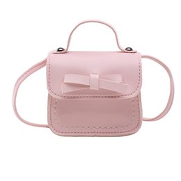 Wholesale Xiniu Children Cute Princess Mini Purse Girls Messenger Bag Women Bag Bow Baby Shoulder Flap Leather Handbag Lady bolsas