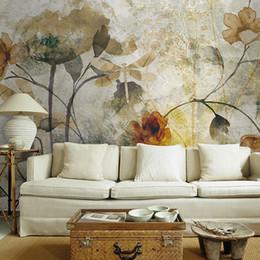 $enCountryForm.capitalKeyWord Australia - Vintage 3D Wall Murals Wallpaper Flower Mural Living Room Wallpaper Colorful rose Oil Painting Elegant and quiet sticker mural