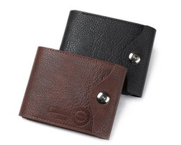 Business Card Holder Magnetic Australia - PU Leather Men's Wallets Magnetic Snap Three Fold Multifunction Purse Coin Pocket Card Holder Classic Male Wallets