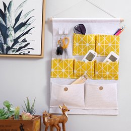 $enCountryForm.capitalKeyWord Australia - 7 Grids Hanging Storage Bags Case Closet Gadget Organizer Over The Door Wall Baskets Self Adhesive Hooks For Kitchen Bedroom