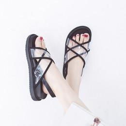 e2c5dd7ce Gladiator Sandals Women Fashion Transparent Shoes 2019 Summer Female Beach  Sandal Rubber Sole Non-Slip Woman Flat Sandals Shoes