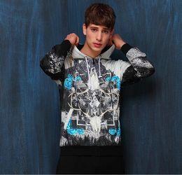$enCountryForm.capitalKeyWord Australia - Spring Nice Pop Premium Mens Fashion Round Collar Hooded 2 D Printing Long Sleeve Cardigan European And American Youth Coat