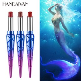 $enCountryForm.capitalKeyWord Australia - Makeup Matte Lipstick Pen Mermaid Lipstick With Vitame E Lady Pipe Have 12 Colors Brand HANDAIYAN