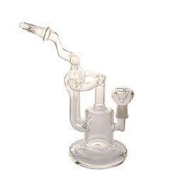 Discount propeller bong - Hot Sell! Double Recycler Bong Propeller Perc Glass Bong Showerhead Percolator Dab Bong Unique Recycler Water Pipe Color