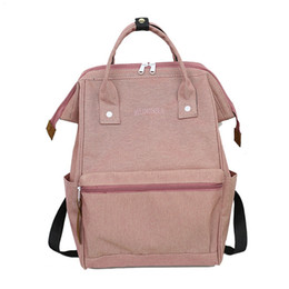Gold Pink Rings For Women Australia - Casual Canvas Waterproof Ring School Backpacks For Women Lightweight Backpack For Teenager Girls Famous Brands Students Mochila #307722