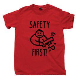 $enCountryForm.capitalKeyWord UK - Safety First T Shirt Cut Off Arm Stupid Funny Dark Humor Meme Joke Gag Gift Tee