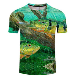animals brown color UK - 2019 Fashion Many Style 3D Printed Tee Cool Men 3D Fish T-Shirt Hobby Carp Tshirt Oversized Hip Hop
