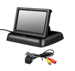Car Video Lcd Australia - Universal 4.3 inch TFT LCD Display Color Monitor Car Video Rear View Monitors Cams & Kits Cam Reverse Camera