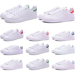 $enCountryForm.capitalKeyWord Australia - Cheap Smith shoes for mens womens Stan designer black white red blue silver pink smith best sneakers Casual shoes size 36-45