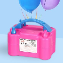 portable balloon pumps Canada - 220v Eu Plug Mini Fashion Portable Modeling High Power Inflating Two Nozzle Gas Air Blower Electric Balloon Inflator Pump Q190524