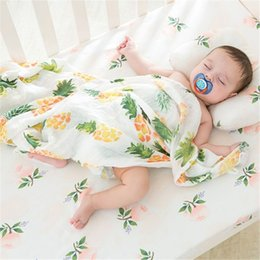 $enCountryForm.capitalKeyWord Australia - 2 Layers Baby Swaddle Wrap Newborn Blanket Cotton Muslin Swaddle for Infant Kids Bath Towel Baby Bedding Sheet Play Mat