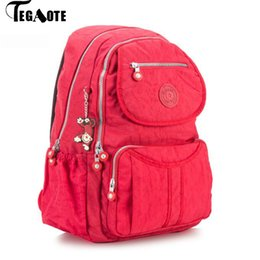 clear color backpack Australia - Tegaote School Backpack For Teenage Girls Large Capacity Back Pack Women Mochila Feminina Nylon Travel Laptop Bagpack Shoulder Y190627