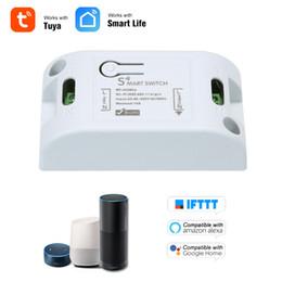 Control Wifi Rf Australia - RF WiFi Smart Switch 433Mhz RF Receiver Intelligent Remote Wireless Control Smart Home Wifi Switch 2200W For Alexa Google Home