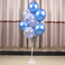balloons columns Canada - Balloon Display Stand Transparent Table Floating Column Base Support Rod Bracket Wedding Birthday Party Decoration Free Shipping XD23039