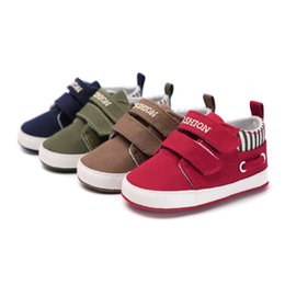 Moccasins For Toddlers Australia - Infant Babies Boy Girl Shoes Sole Soft Canvas Solid Footwear For Newborns Toddler Crib Moccasins 4 Colors Available