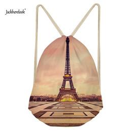 $enCountryForm.capitalKeyWord Australia - Jackherelook Beautiful Eiffel Tower Fashion Women Drawstring Backpack Small Shoulder Bags School Girls Storage Cinch Sack Bolsas