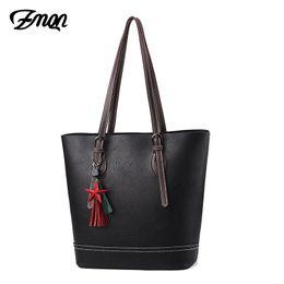 $enCountryForm.capitalKeyWord Australia - ZMQN Women Shoulder Handbags Bag Black Bucket Tassel Ladies Hand Bags Handbags Women Famous Brands Leather Bag Big Capacity C685