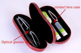 Kit Boxes Australia - 2018 New Dual-use Myopic Contact Lens Kit Box Dual Purpose Originality Handmade Leather Reading Glasses Case C19041201