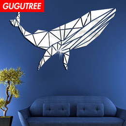$enCountryForm.capitalKeyWord NZ - Decorate Home 3D whale cartoon mirror art wall sticker decoration Decals mural painting Removable Decor Wallpaper G-347