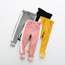 $enCountryForm.capitalKeyWord Australia - Baby Girls Leggings 2019 Autumn Winter Children Boys Thicker Sports Pants for Winter Warm Leggings Girl Kids Panelled Trousers