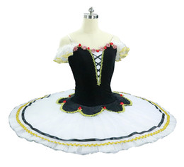 tutus women NZ - White Black Doll Professional Ballet Tutu pancake Women Children Don Quixote Ballerina competition or Performance YAGP Stage Tutus costume