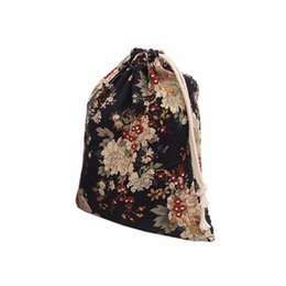$enCountryForm.capitalKeyWord UK - Shopping Bags Peony Printing Women Drawstring Bag Beam Port Storage Bag High Quality Fluid Systems Unisex Small Pouch Bolsa