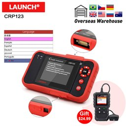 launch creader diagnostic obd2 code reader Australia - Launch Auto Code Reader Creader CRP123 Full obd2 auto diagnostic tool in Russian French Spain obd 2 scanner for ENG AT ABS