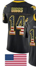 $enCountryForm.capitalKeyWord Australia - Man Minnesota 14 Jersey Men Shirts Adult Embroidery and 100% stitched USA Flag Fashion Black Color Limited American Football jerseys